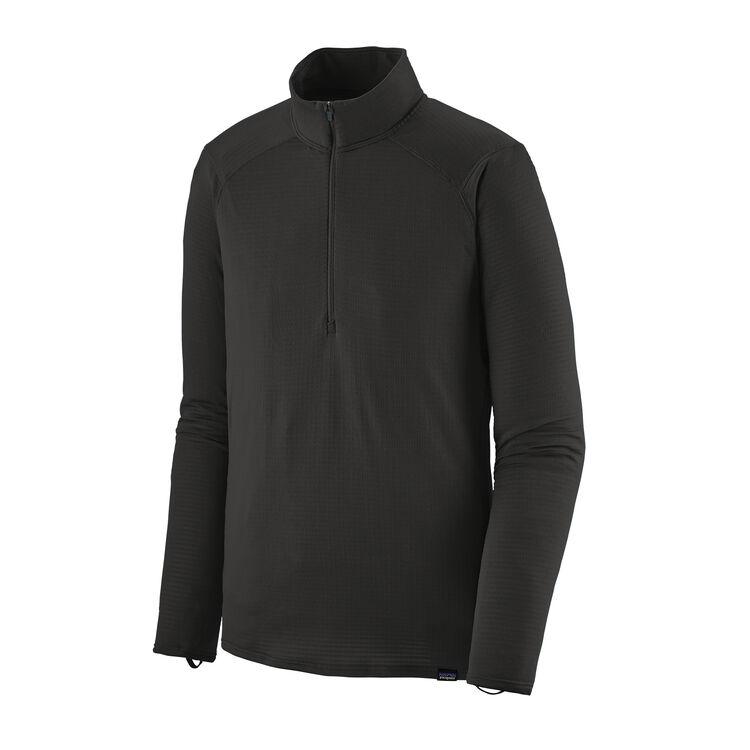M'S CAP TW ZIP NECK, Black (BLK)