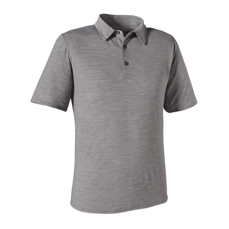 M'S MERINO DAILY POLO, Feather Grey (FEA)