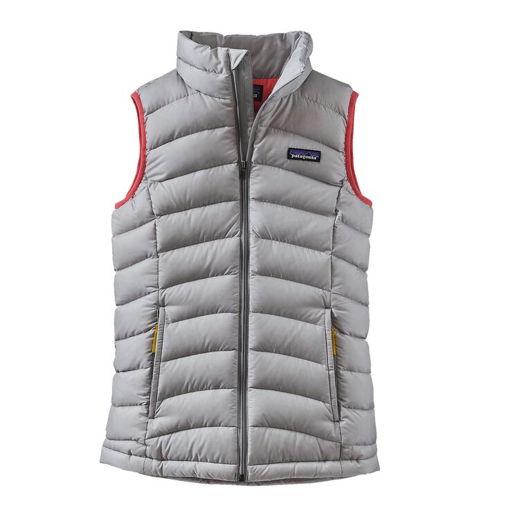 GIRLS' DOWN SWEATER VEST, Drifter Grey (DFTG)