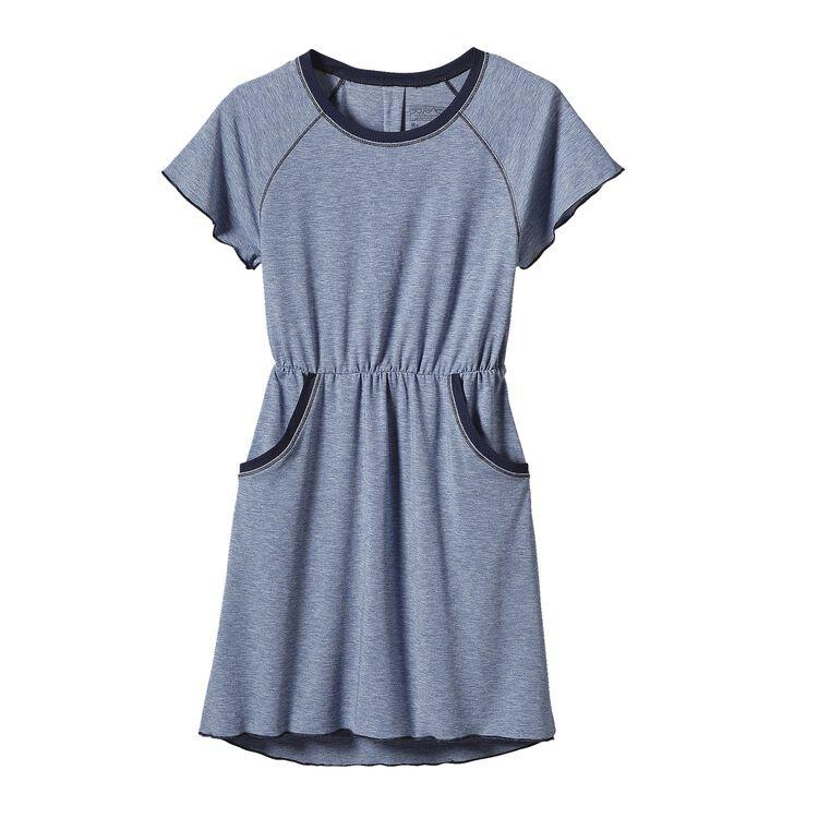 GIRLS' FLEURY DRESS, Channel Blue (CHB)