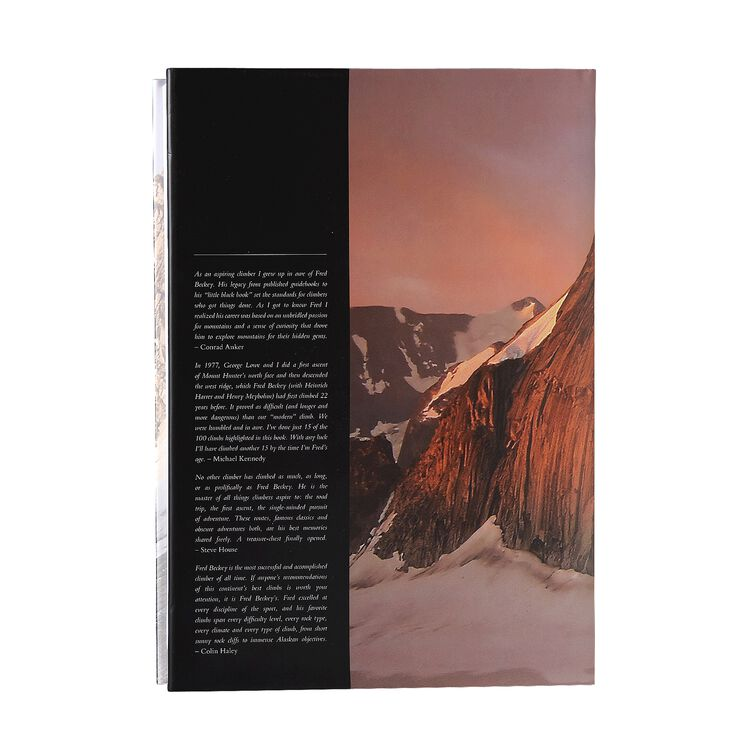 Fred Beckey's 100 Favorite North American Climbs by Fred Beckey (Patagonia published hardcover book),
