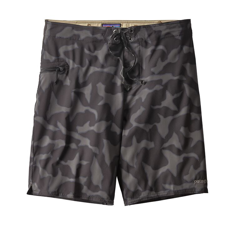M'S STRETCH PLANING BOARDSHORTS - 20 IN., Aerial Camo: Black (AECB)