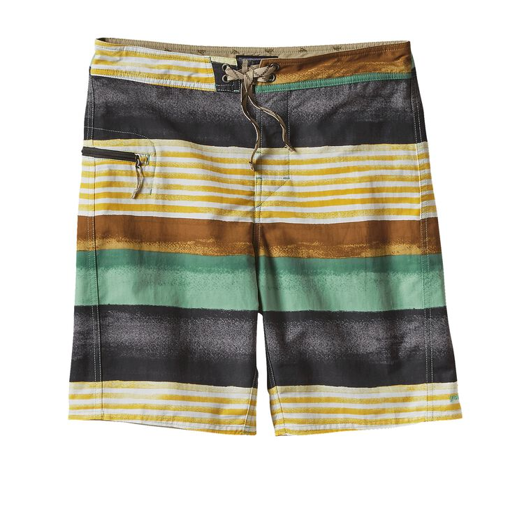 M'S PRINTED WAVEFARER BOARD SHORTS - 19, Painted Fitz Stripe: Forge Grey (PFGY)