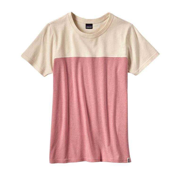 ウィメンズ・クリーン・カラー・ブロック・ティー, Clean Carmine Pink (CRMP)