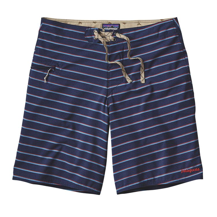 M'S PRINTED STRETCH PLANING BOARD SHORTS, Daybreak: Navy Blue (DYNV)
