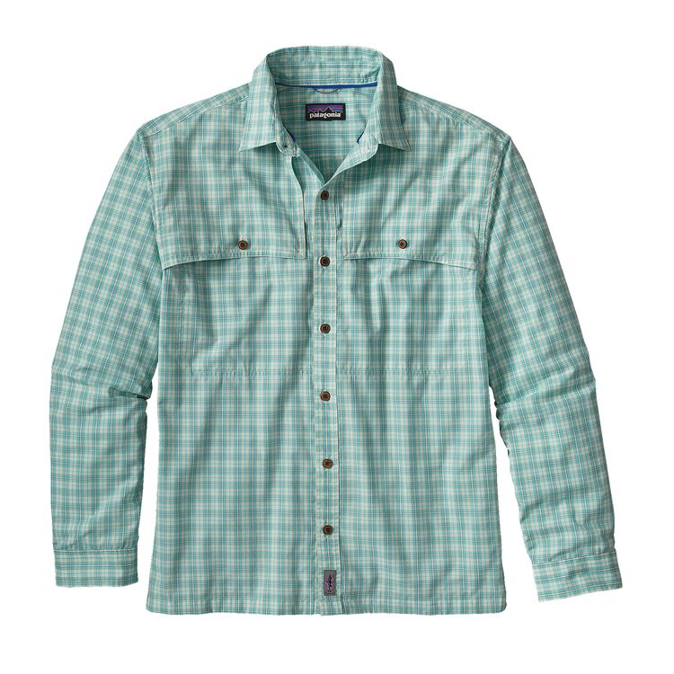 M'S L/S ISLAND HOPPER II SHIRT, Nymph: Howling Turquoise (NYHT)