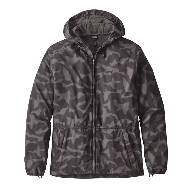 M'S STRETCH TERRE PLANING HOODY, Aerial Camo: Black (AECB)