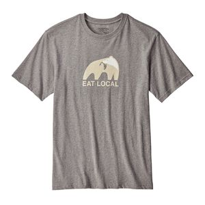 M's Eat Local Upstream Cotton T-Shirt, Gravel Heather (GLH)
