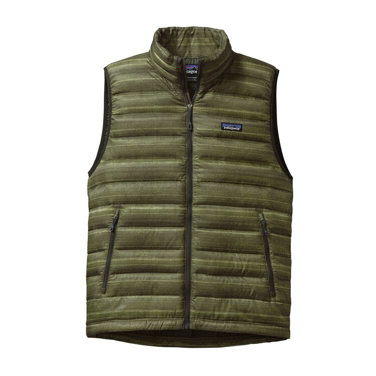 M'S DOWN SWEATER VEST, Nambre: Kelp Forest (NAKF)