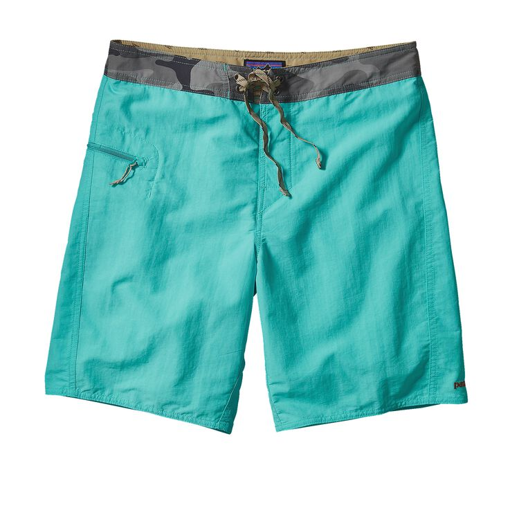 M'S SOLID WAVEFARER BOARD SHORTS - 19 IN, Howling Turquoise (HWLT)