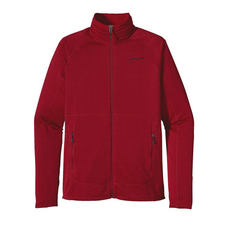 メンズ・R1フルジップ・ジャケット, Classic Red (CSRD)