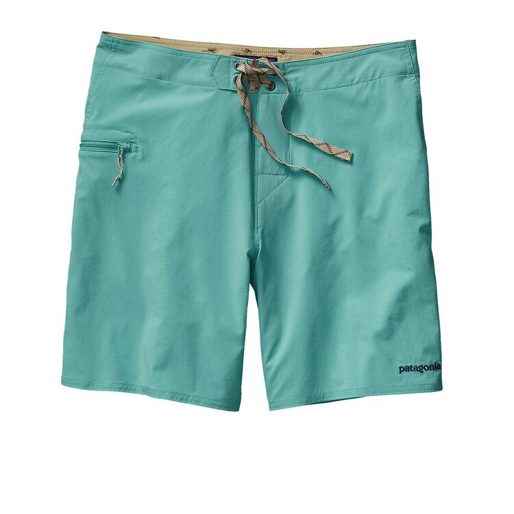 M'S SOLID STRETCH PLANING BOARD SHORTS -, Howling Turquoise (HWLT)