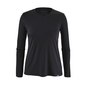 W'S CAP DAILY L/S T-SHIRT, Black (BLK)