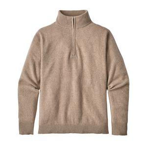 M's Recycled Cashmere 1/4-Zip Sweater, Mojave Khaki (MJVK)