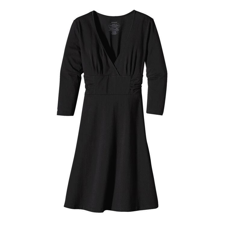 ウィメンズ・3/4スリーブ・マーゴ・ドレス, Black (BLK)