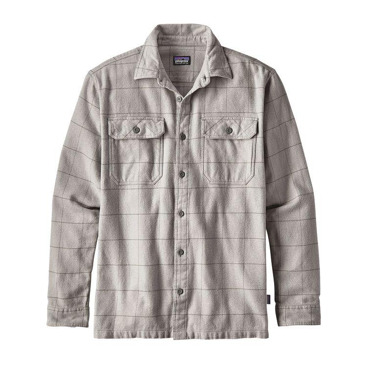 メンズ・ロングスリーブ・フィヨルド・フランネル・シャツ(アジア・フィット), Crafted Plaid: Tailored Grey (CFTG)