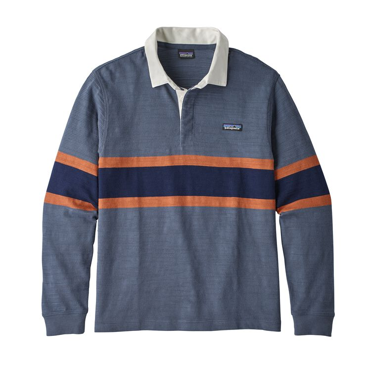 M'S L/S LW RUGBY SHIRT, Rugby Big: Dolomite Blue (RUGD)