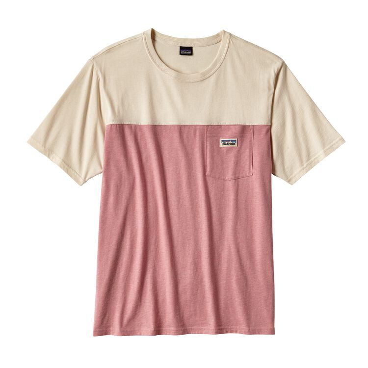 メンズ・クリーン・カラー・ブロック・ティー, Clean Carmine Pink (CRMP)