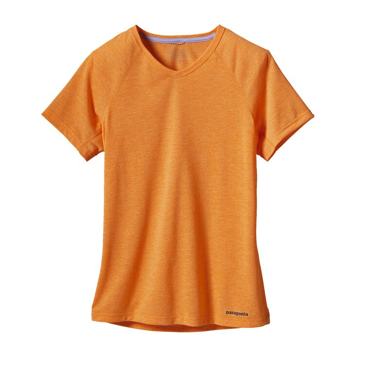 W'S S/S NINE TRAILS SHIRT, Sporty Orange (SPTO)