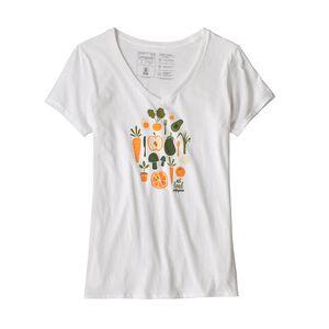 ウィメンズ・ハーベスト・ホール・オーガニック・Vネック・Tシャツ, White (WHI)