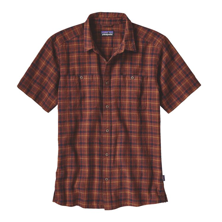 M'S BACK STEP SHIRT, Limber: Cinder Red (LBCR)