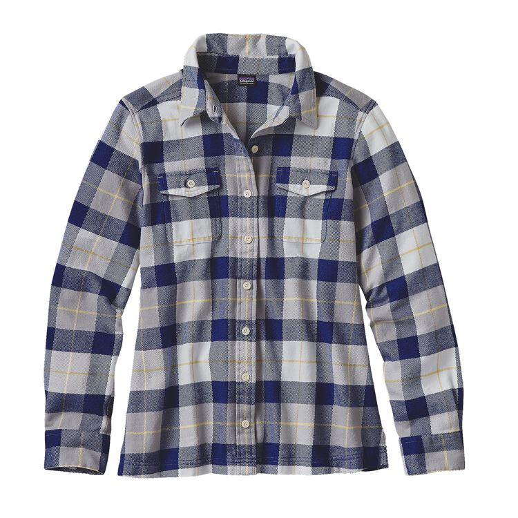 W'S L/S FJORD FLANNEL SHIRT, Tree Crown: Harvest Moon Blue (TCHM)