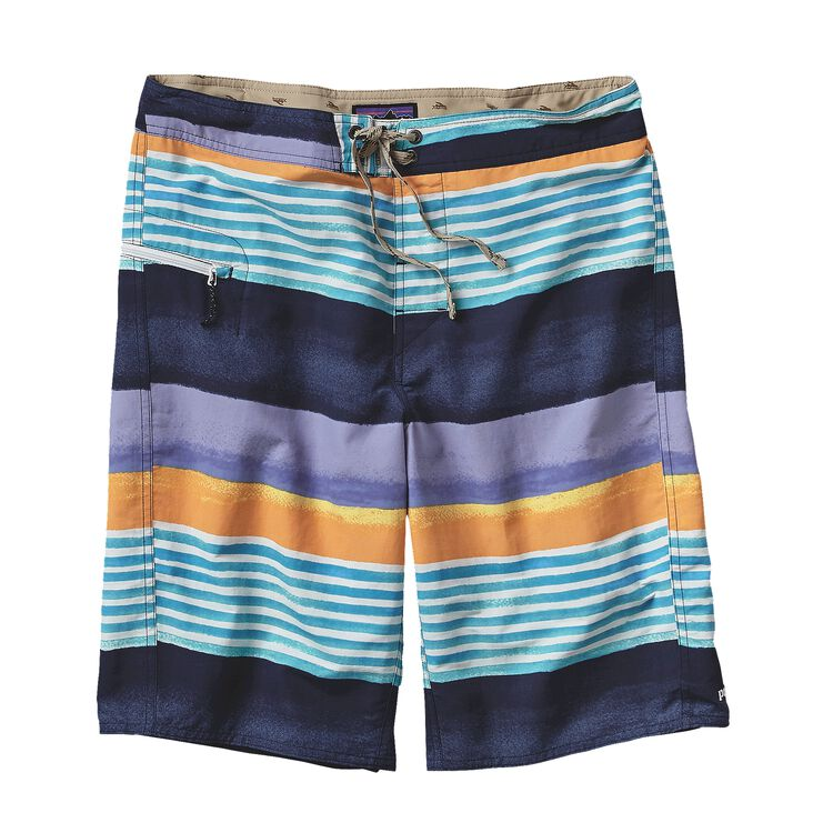 M'S PRINTED WAVEFARER BOARD SHORTS - 21, Painted Fitz Stripe: Navy Blue (PZNV)
