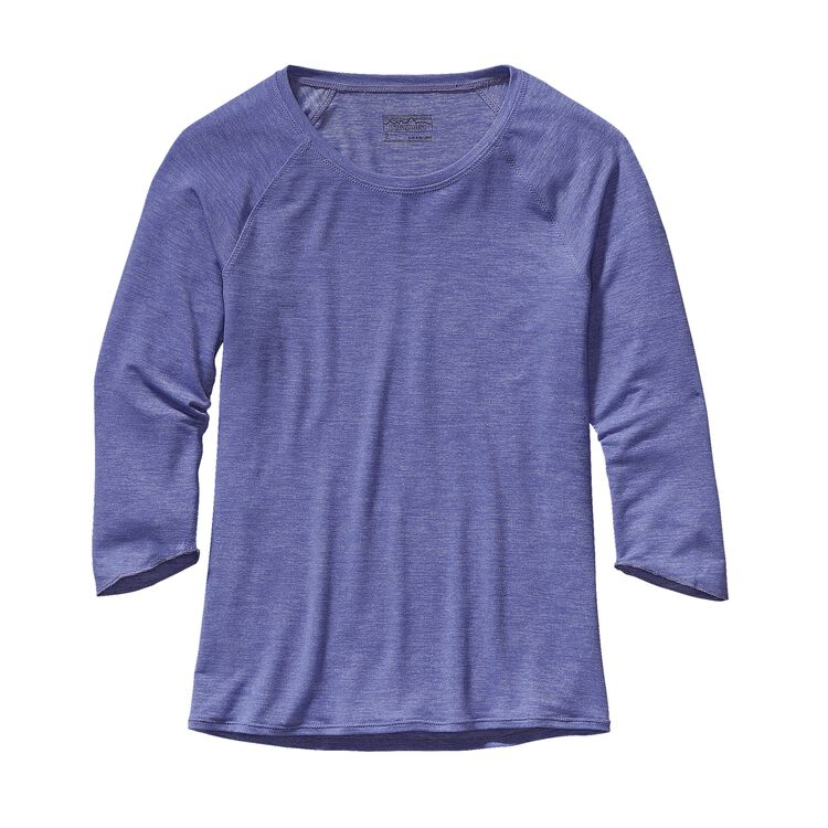 W'S GLORYA 3/4 SLEEVE TOP, Violet Blue (VLTB)