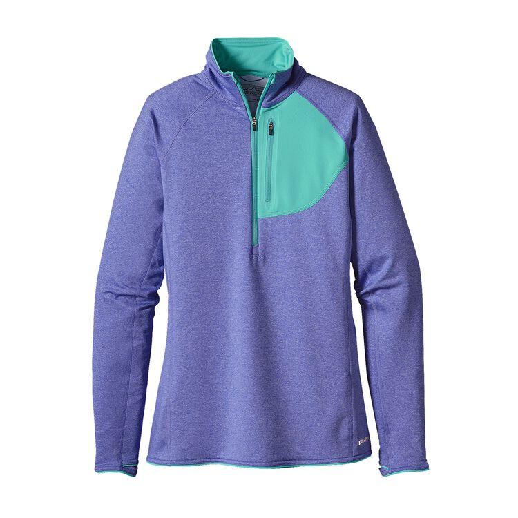 W'S THERMAL SPEEDWORK ZIP NECK, Violet Blue (VLTB)