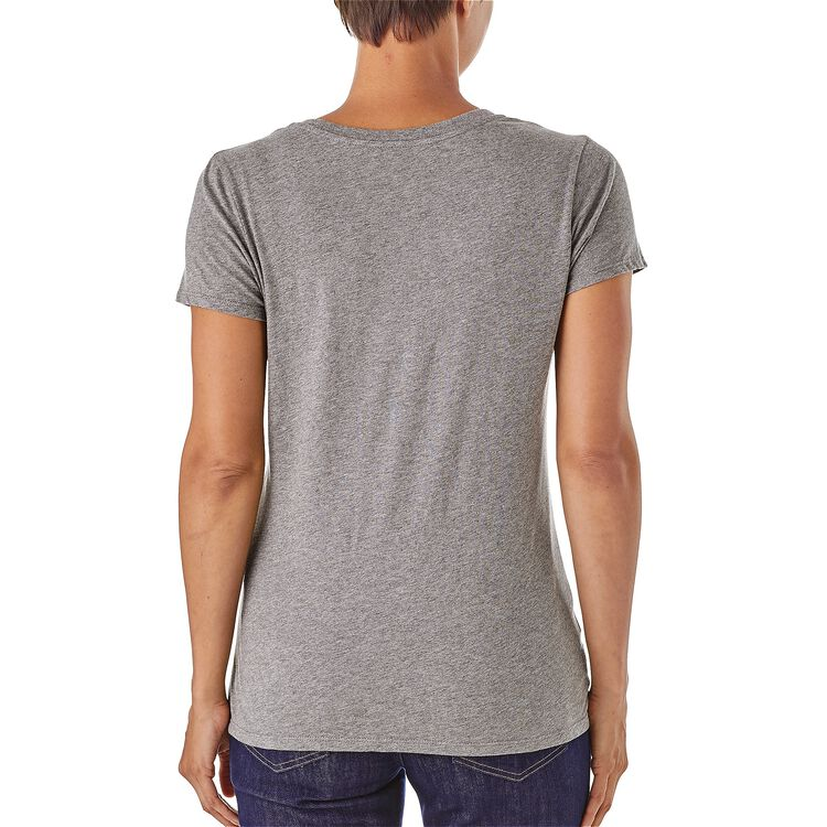 W's Femme Fitz Roy Organic Cotton V-Neck T-Shirt,