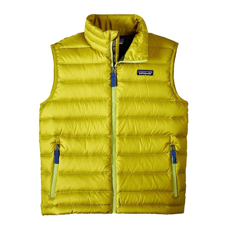 BOYS' DOWN SWEATER VEST, Fluid Green (FLGR)