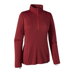 W's Capilene® Midweight Zip-Neck, Drumfire Red (DRMF)