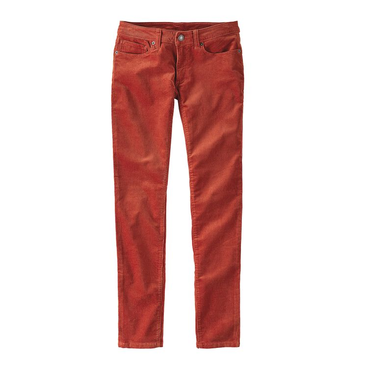 W'S FITTED CORDUROY PANTS, Roots Red (RTSR)