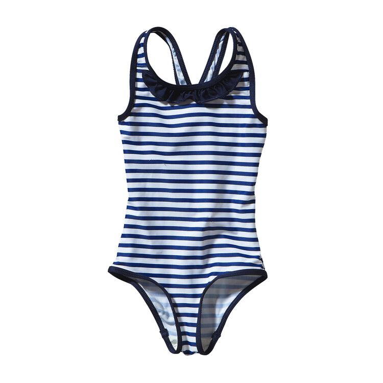 ベビー・QTスイムスーツ, Nautical Stripe: Channel Blue (NACB)