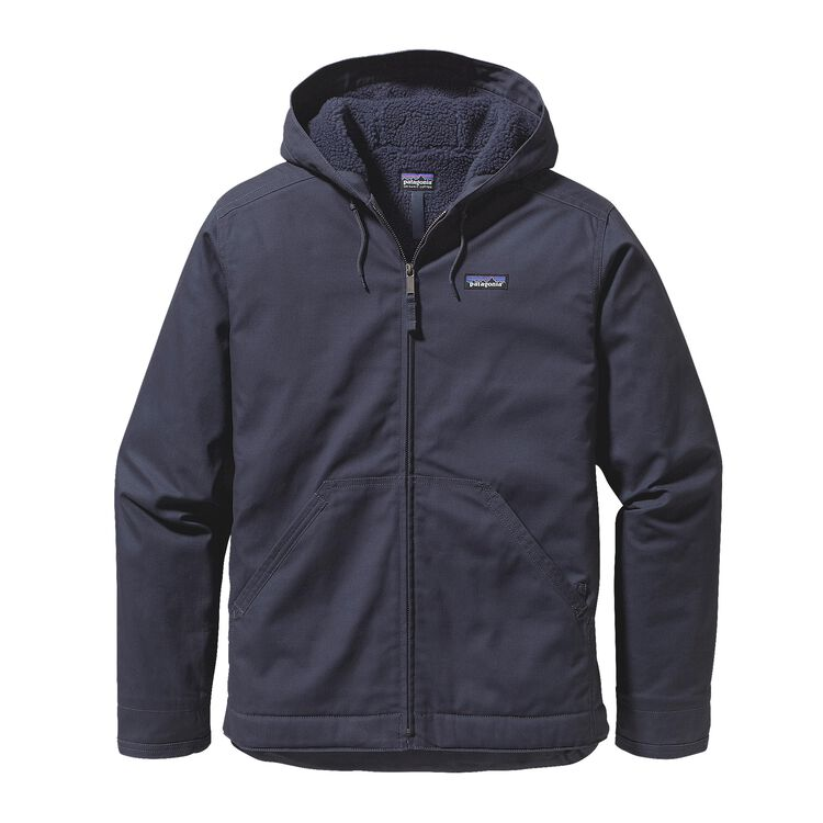 M'S LINED CANVAS HOODY, Smolder Blue (SMDB)
