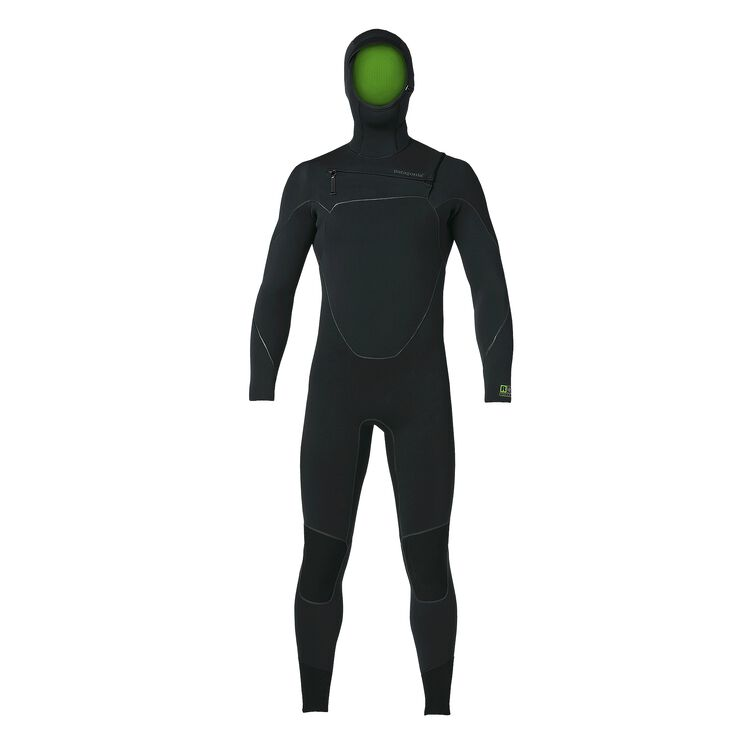 M'S R2 YULEX FZ HOODED FULL SUIT, Black (BLK)