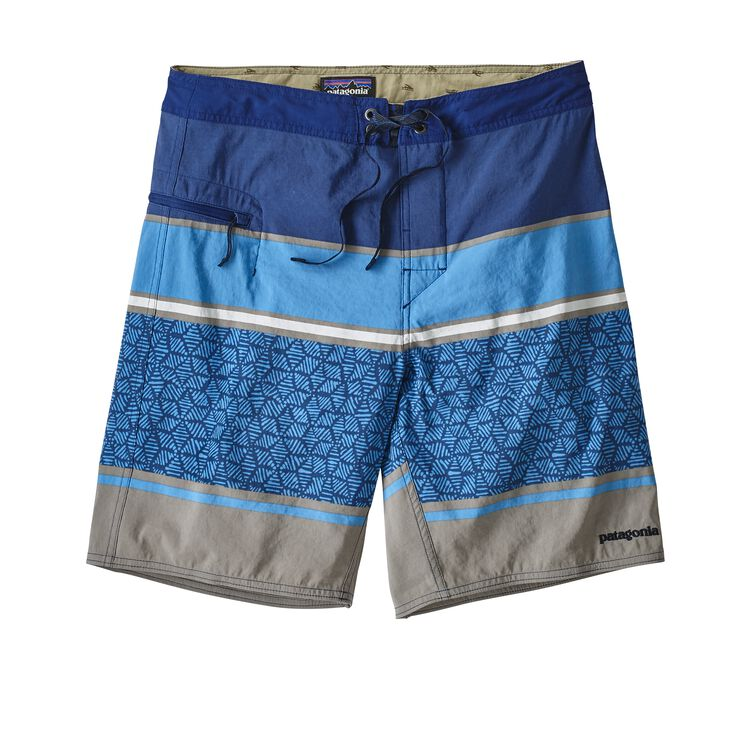 M'S WAVEFARER BOARDSHORTS - 19 IN., Batik Hex Stripe: Superior Blue (BAKS)