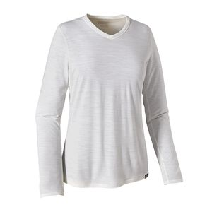 W's Long-Sleeved Merino Daily V-Neck T-Shirt, Birch White (BCW)
