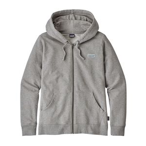 W's Pastel P-6 Label Midweight Full-Zip Hoody, Feather Grey (FEA)