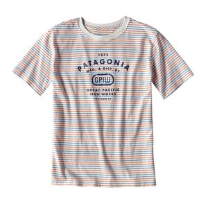 Boys' Striped GPIW™ Biner Cotton T-Shirt, Sets Small: Birch White (SMBW)