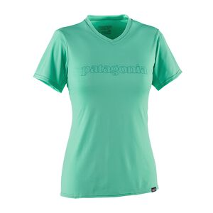 W's Capilene® Daily Graphic T-Shirt, Outline Text Logo: Galah Green (OTGL)