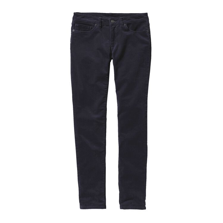 W'S FITTED CORDUROY PANTS, Smolder Blue (SMDB)