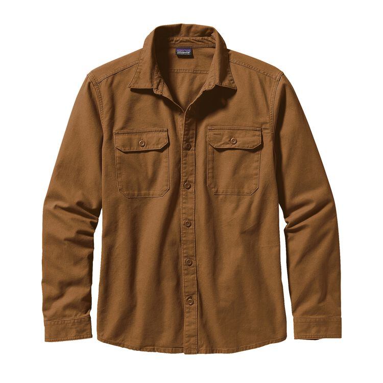 M'S L/S WORKWEAR SHIRT, Bear Brown (BRBN)