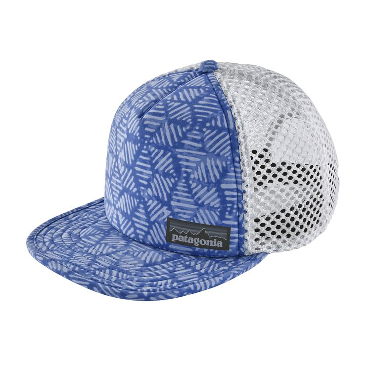 DUCKBILL TRUCKER HAT, Batik Hex Big: Imperial Blue (BAIP)