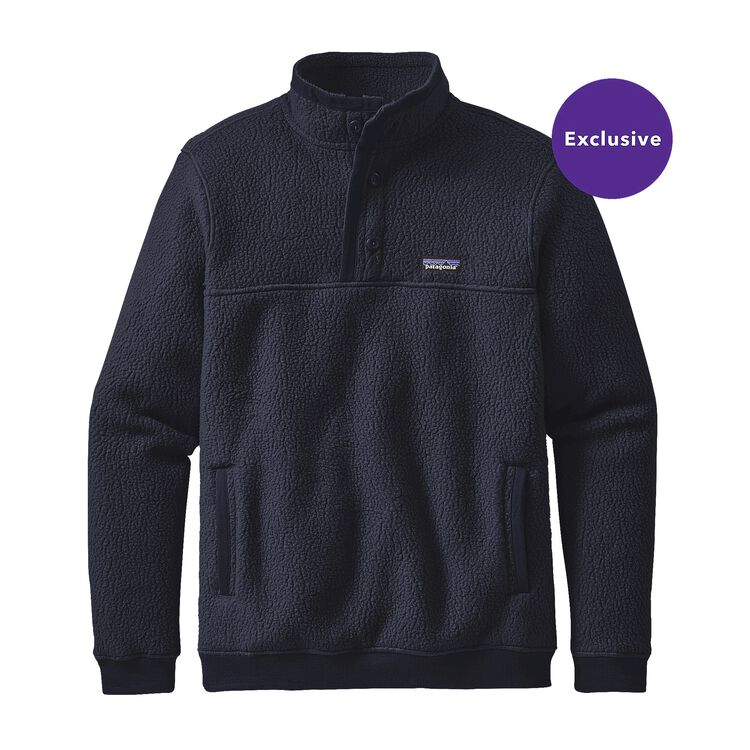 M'S SHEARLING FLEECE P/O, Navy Blue (NVYB)