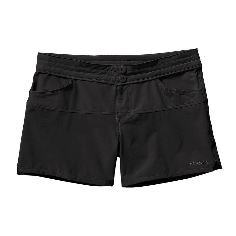 W'S COLORBLOCK STRETCH WAVEFARER SHORTS, Black (BLK)