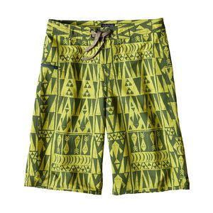 "Boys' Wavefarer™ Shorts - 10"", Tribal Geo: Chartreuse (TGCT)"