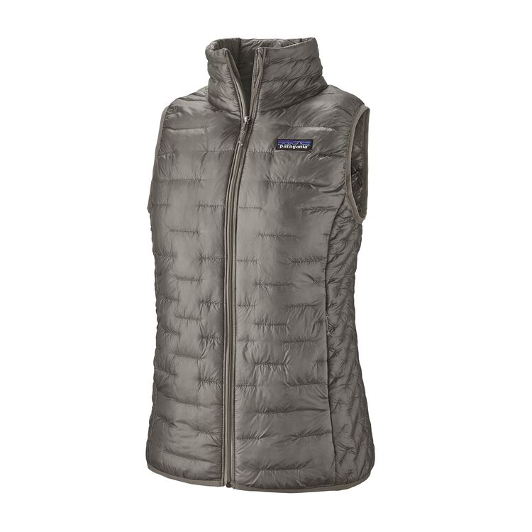 W'S MICRO PUFF VEST, Feather Grey (FEA)