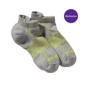 Lightweight Merino Run Anklet Socks, Feather Grey (FEA)