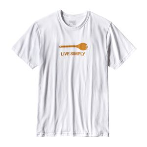 M's Live Simply® Spork Cotton/Poly Responsibili-Tee®, White (WHI)
